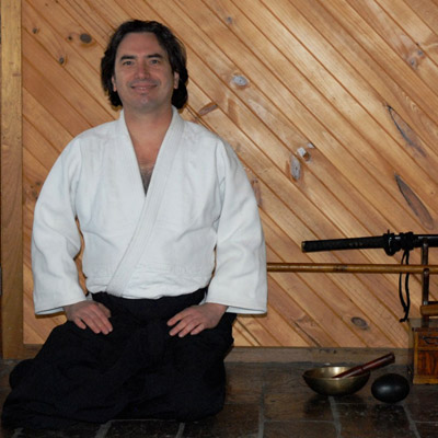James Irving in seiza position